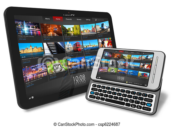 Tablet PC and smartphone - csp6224687