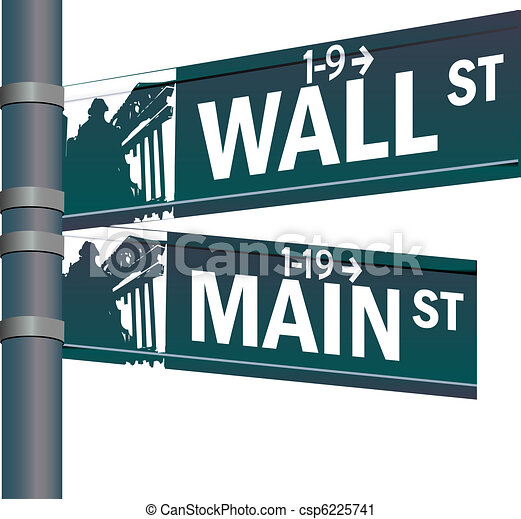 Wall street main street vector intersection - csp6225741