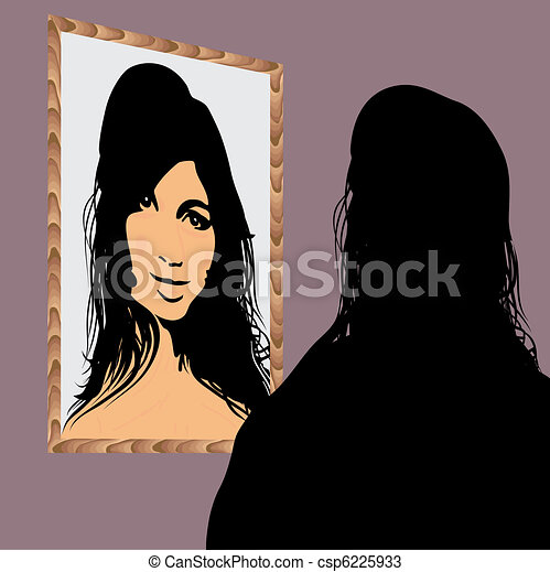 Face in the Mirror - csp6225933