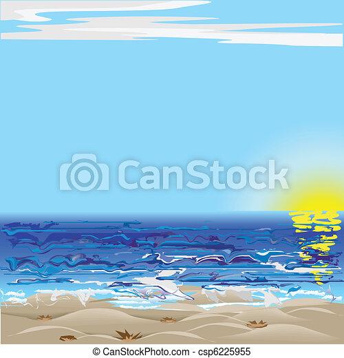 Rough sea - csp6225955