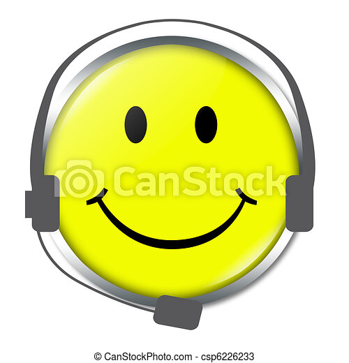 Funny Face with headphone - csp6226233