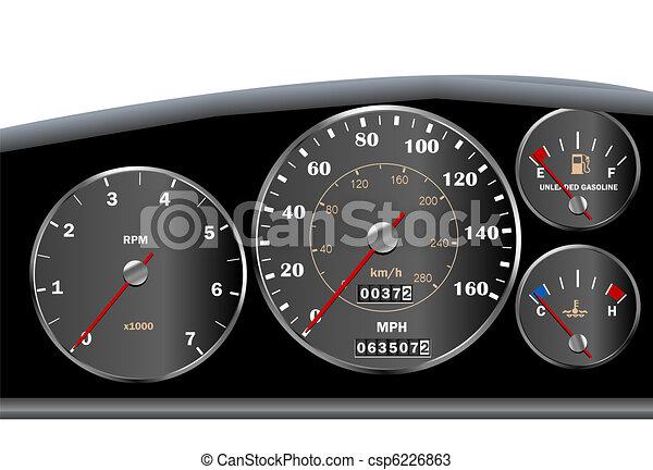 Car dashboard speedometer for motor or sportscar - csp6226863