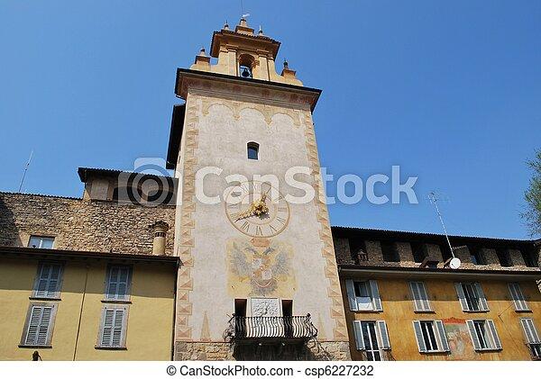 Tower bell, Bergamo - csp6227232