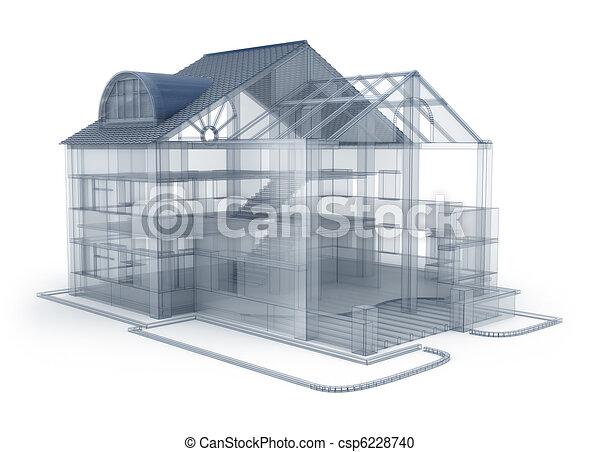 Architecture plan house - csp6228740