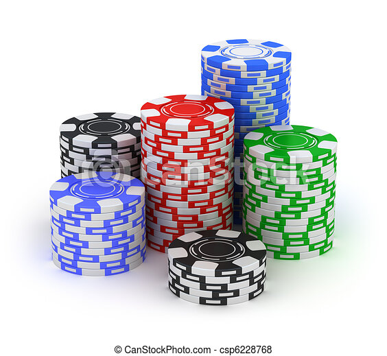 Big stack. Poker gambling chips - csp6228768