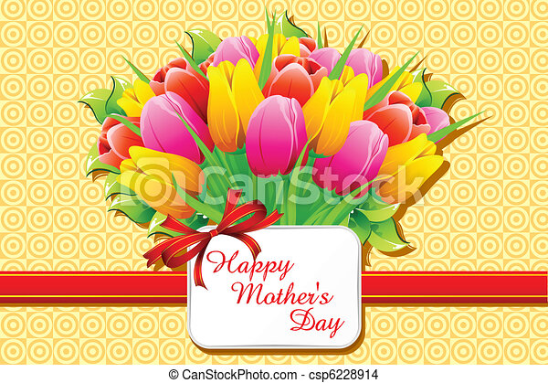 Happy Mother's Day Card - csp6228914