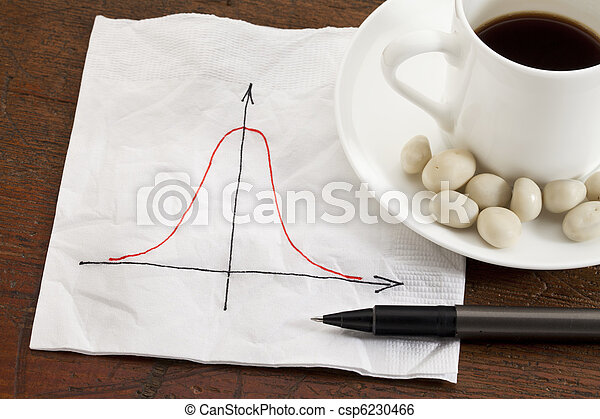 Gaussian (bell) curve - csp6230466
