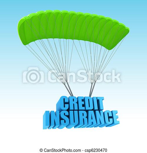 Credit Insurance 3d concept illustration - csp6230470