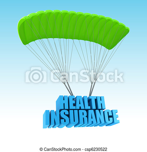 Health Insurance 3d concept illustration - csp6230522