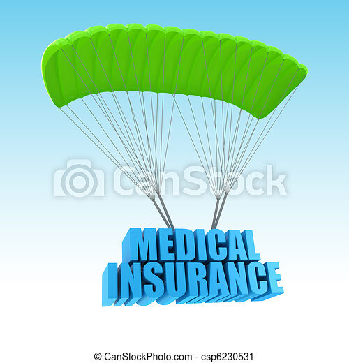 Medical Insurance 3d concept illustration - csp6230531