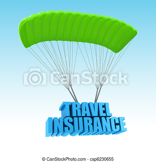 Travel Insurance 3d concept illustration - csp6230655