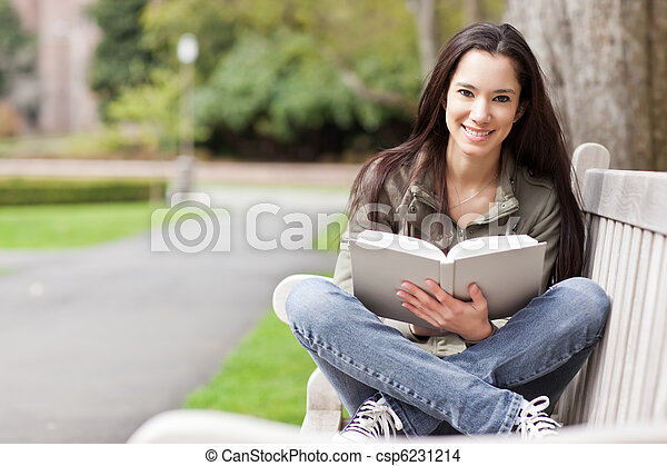 Ethnic college student studying - csp6231214