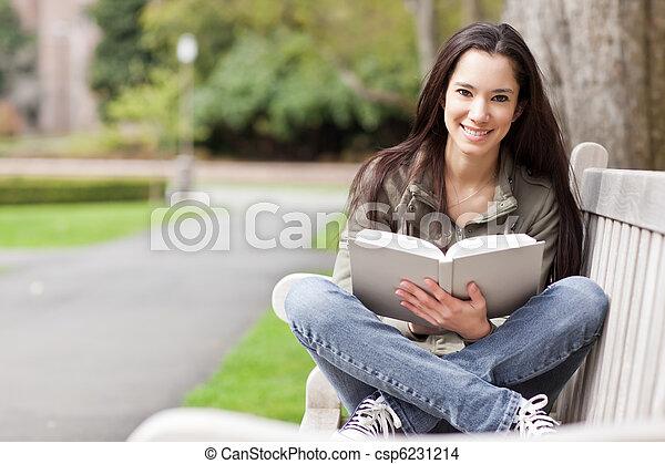 Ethnic college student studying - csp6231214