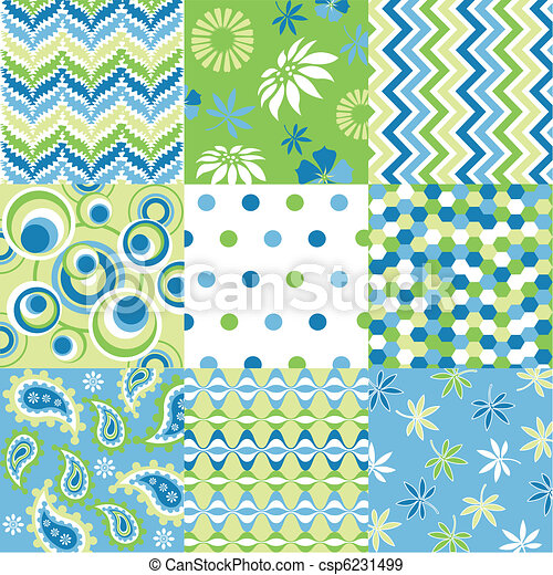 seamless patterns with fabric textu - csp6231499
