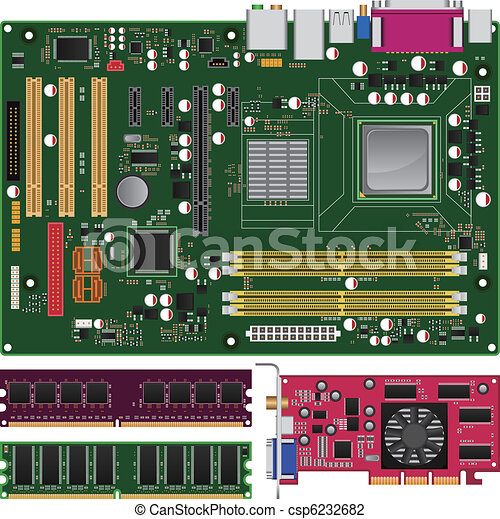 Mainboard, Memory and Graphics Card - csp6232682