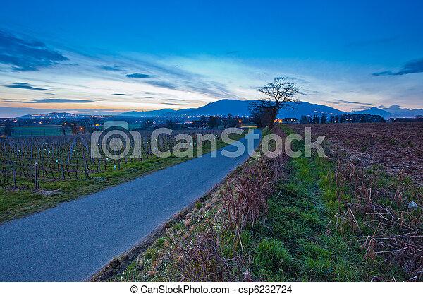 Swiss rural road - csp6232724