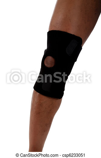 Young male leg, African American - csp6233051