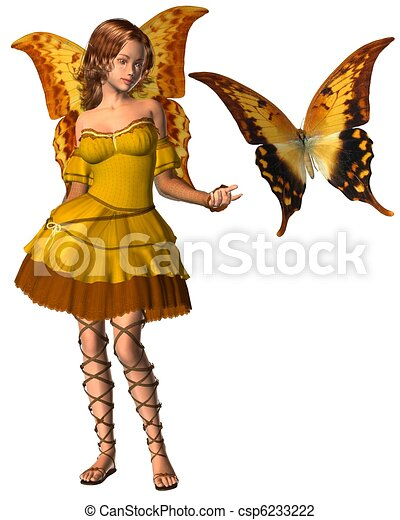 Swallowtail Butterfly Fairy - 1 - csp6233222