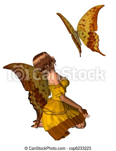 Swallowtail Butterfly Fairy - 2 - csp6233223