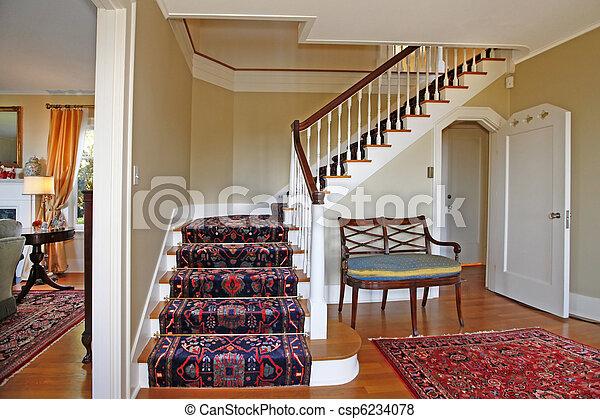 images de beau escalier luxe tapis csp6234078 recherchez des photos des images des. Black Bedroom Furniture Sets. Home Design Ideas