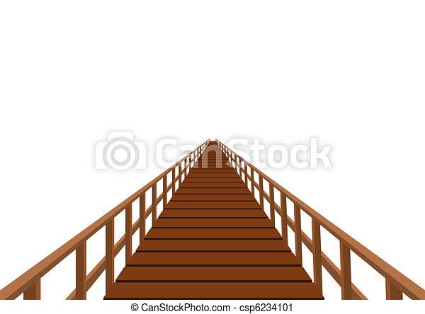 Wooden bridge Stock Illustrations. 1,576 Wooden bridge clip art ...