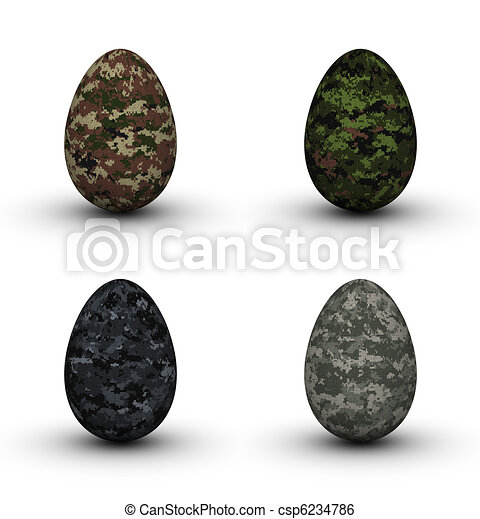 Military Easter Eggs - csp6234786