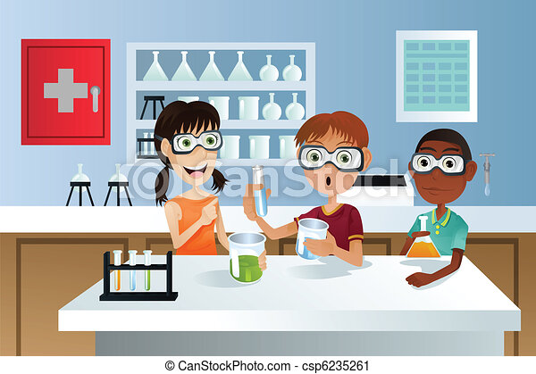 Students in science project - csp6235261