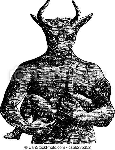Baal vintage engraving. - csp6235352