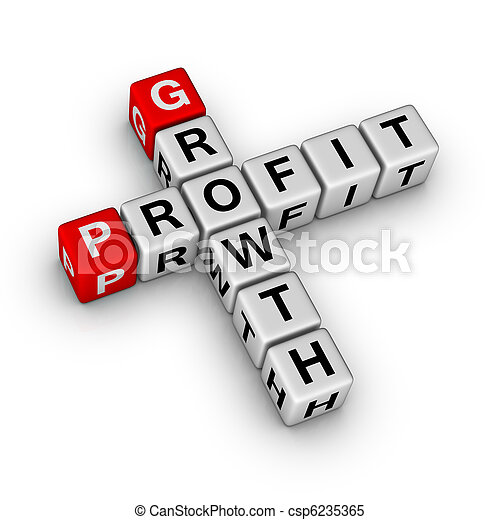 growth and profit crossword - csp6235365