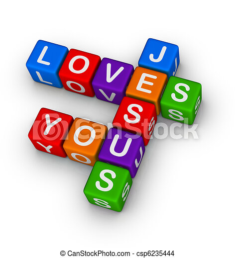 Jesus loves you - csp6235444