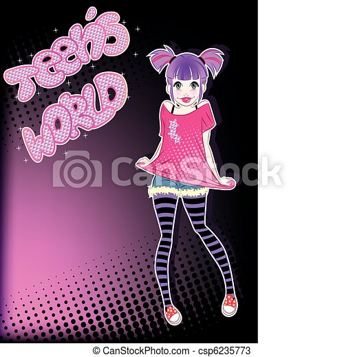 teen girl - csp6235773