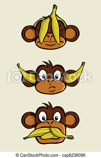 Three wise monkeys - csp6236096