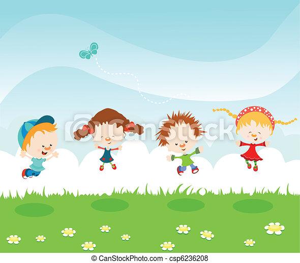 Jumping Kids - csp6236208