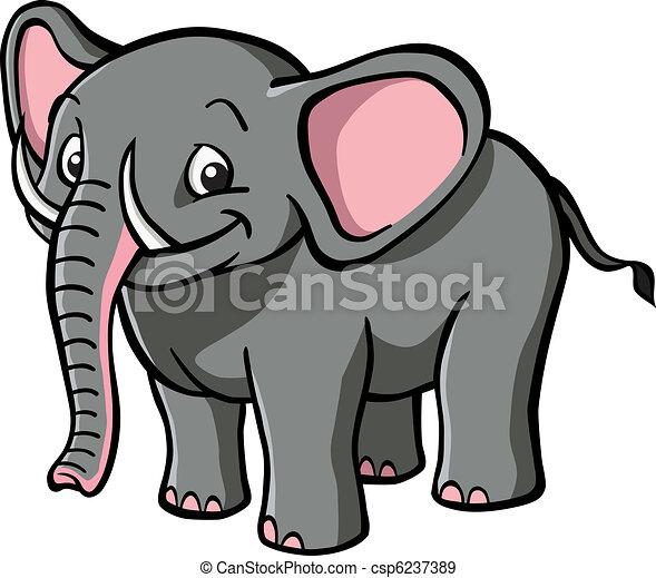 Cute cartoon elephant - csp6237389