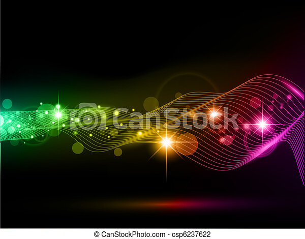bright multicolored background with stars and lights - csp6237622