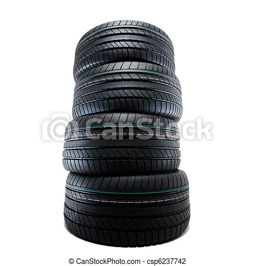 sport summer tires, isolated - csp6237742
