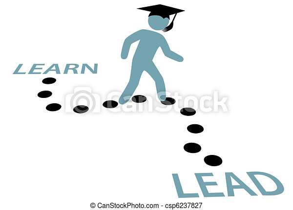 Graduation Education Path LEARN to LEAD - csp6237827