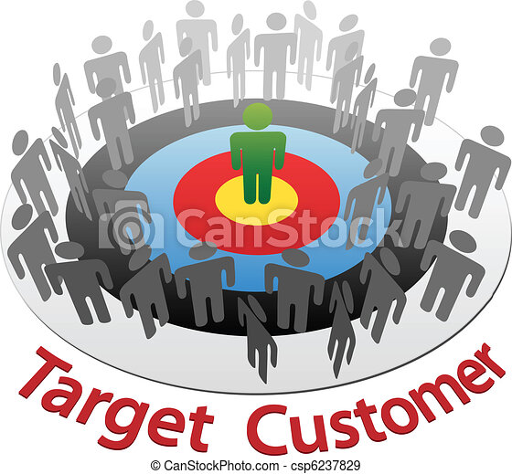 Marketing to Best customer target market - csp6237829