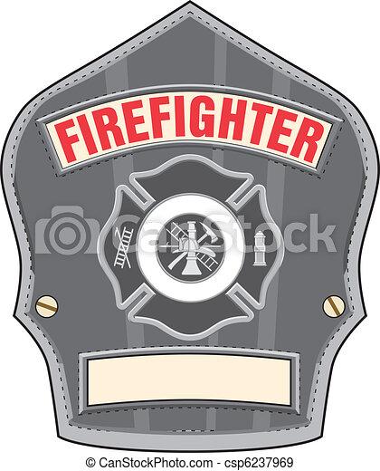 Firefighter Helmet Badge - csp6237969