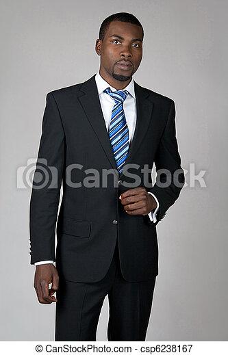 Gentleman wearing suit and tie - csp6238167