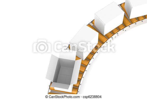 Conveyor Belt. Top view   - csp6238804