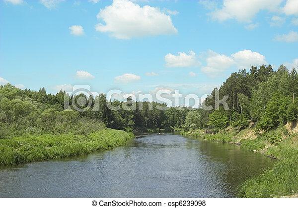 fiume, banca - csp6239098