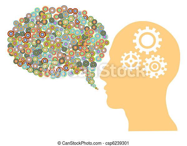 creative speech bubble - csp6239301