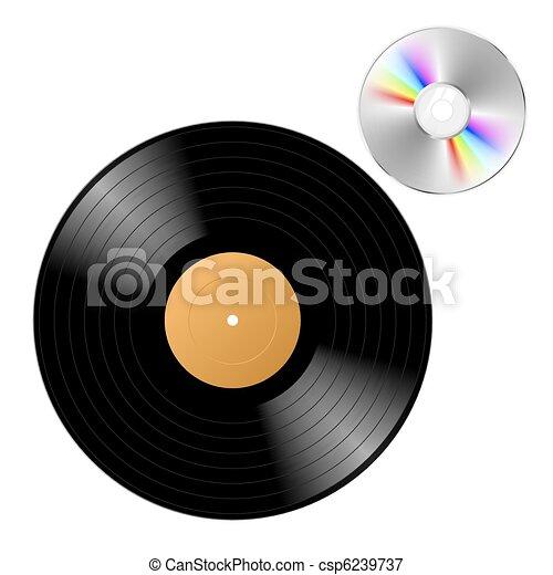 Vinyl record with cd - csp6239737