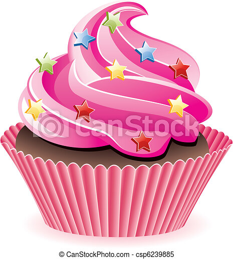 pink cupcake - csp6239885