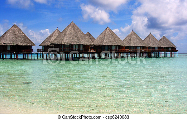 Maldives Village - csp6240083