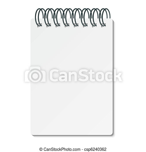 Writing pad with spiral binder - csp6240362