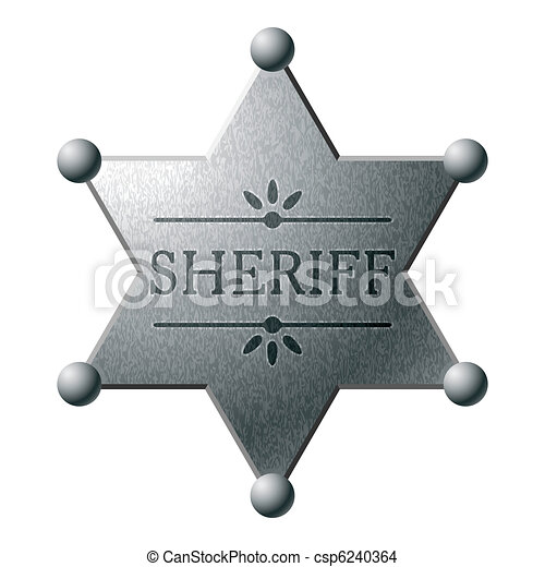 Sheriff badge - csp6240364
