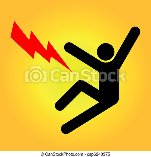 High voltage sign - csp6240375