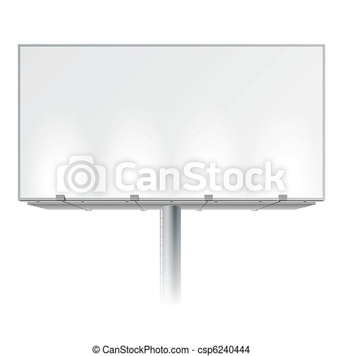 Blank advertising billboard - csp6240444